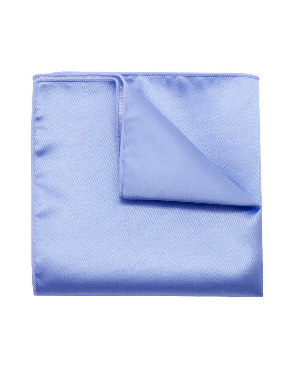 Solid Blue Bell Woven Pocket Square PSQ31.9
