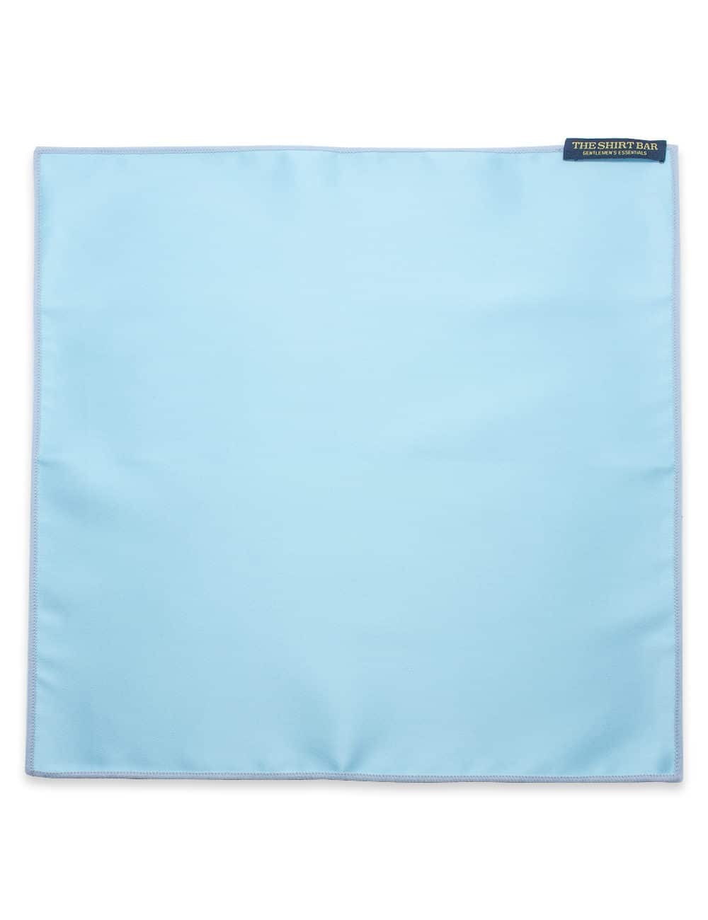 Solid Canal Blue Woven Pocket Square PSQ33.9