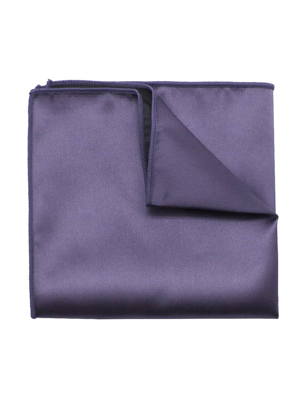 Solid Pewter Grey Woven Pocket Square PSQ34.9
