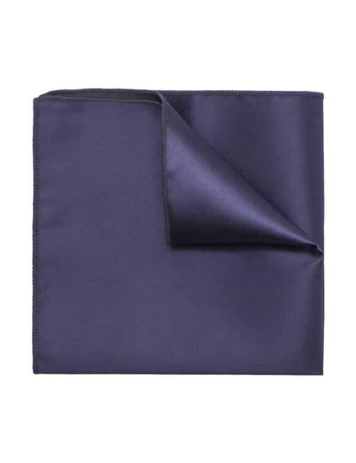Solid Dark Grey Woven Pocket Square PSQ35.9