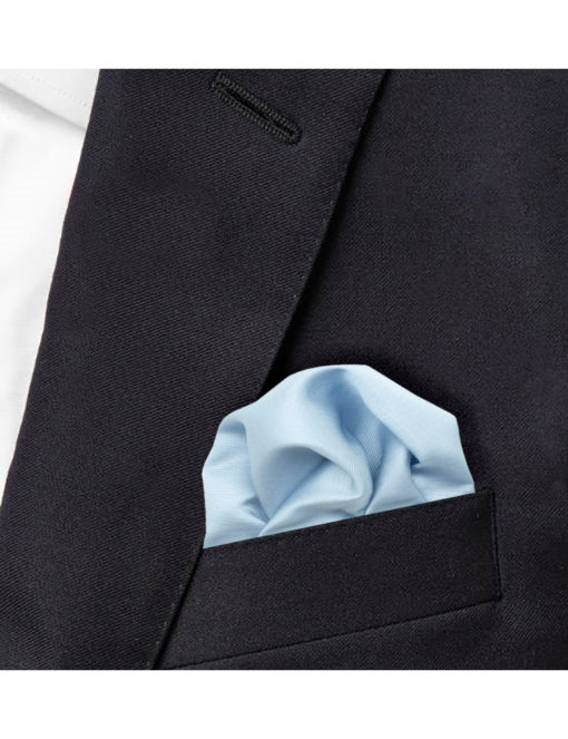Solid Grey Rock Pocket Square PSQ40.6