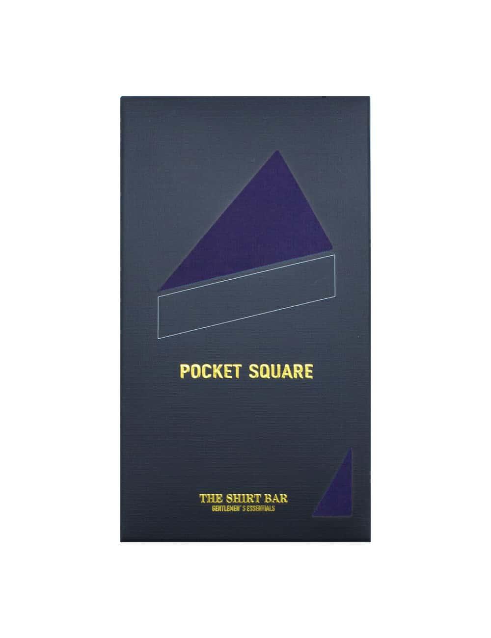 Solid Dark Iris Blue Woven Pocket Square PSQ40.9