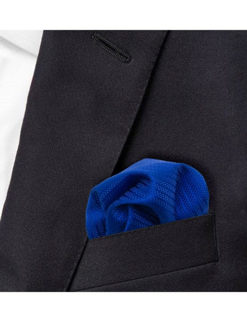 Blue Dobby Woven Pocket Square PSQ42.9