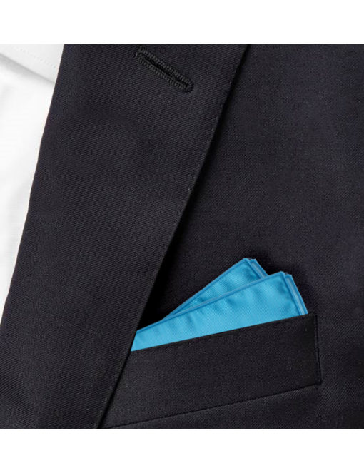 Solid Vivid Blue Pocket Square PSQ46.6