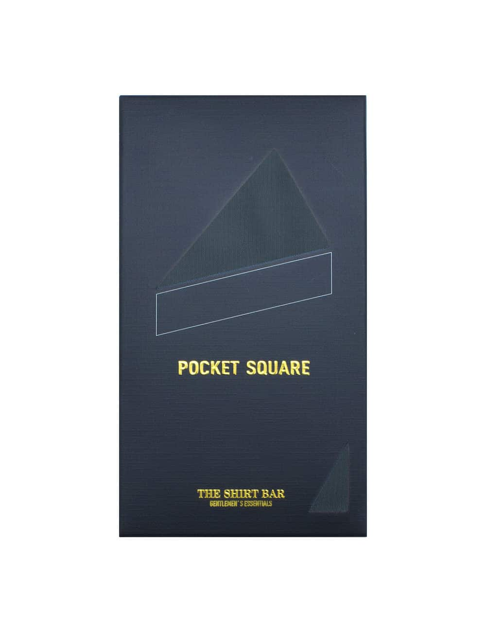 Solid Nine Iron Pocket Square with White Edge PSQ65.6
