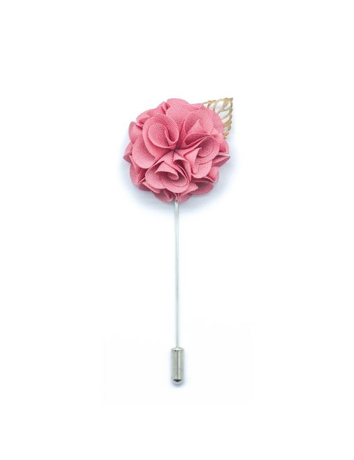 Pink Rose Gold Leaf Lapel Pin LP137.8