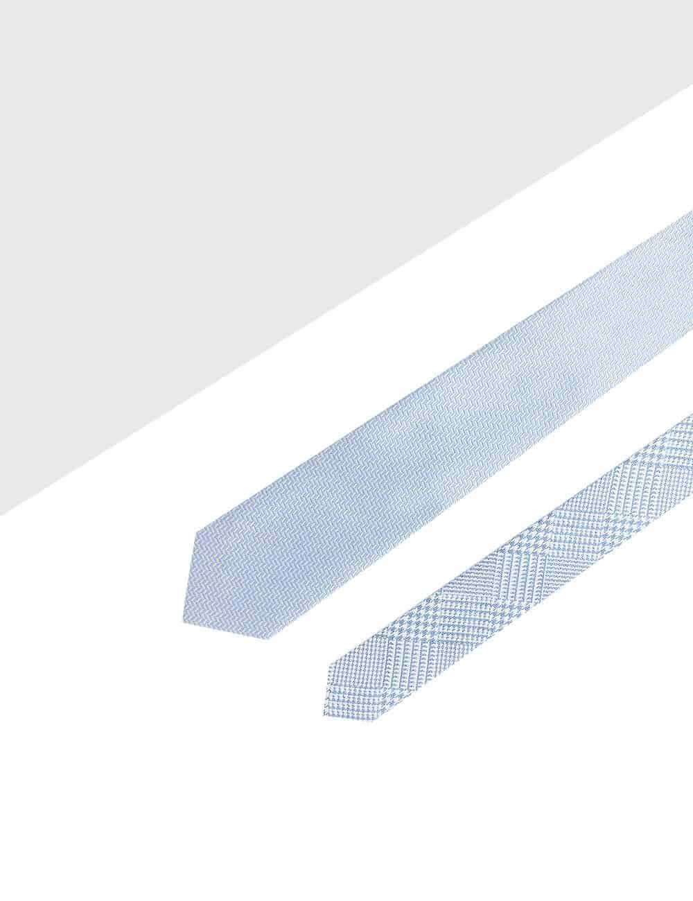 Grey Herringbone Spill Resist Woven Reversible Necktie RNT8.9