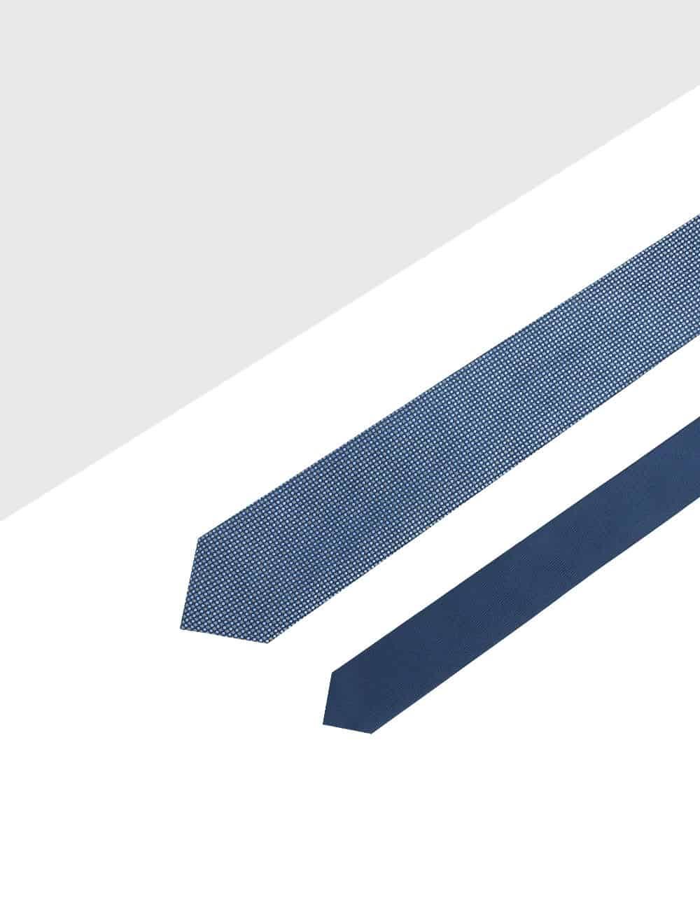 Navy Dobby Spill Resist Woven Reversible Necktie RNT9.9
