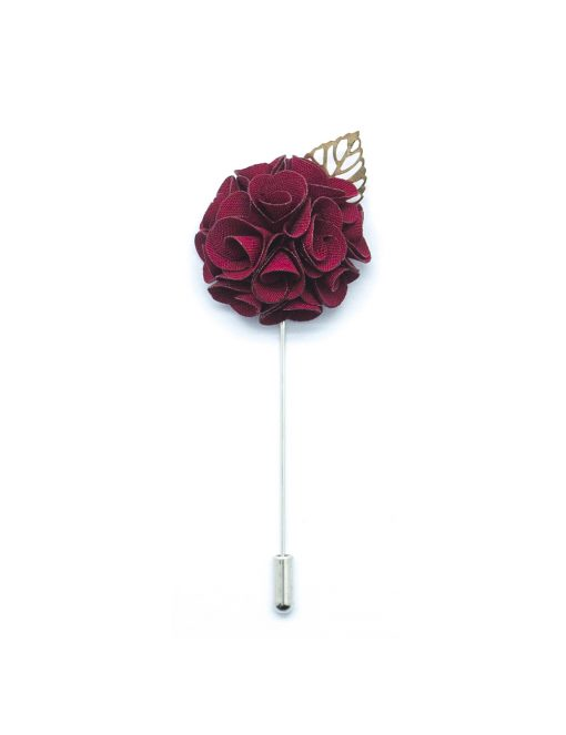 Red Rose Gold Leaf Lapel Pin LP135.8