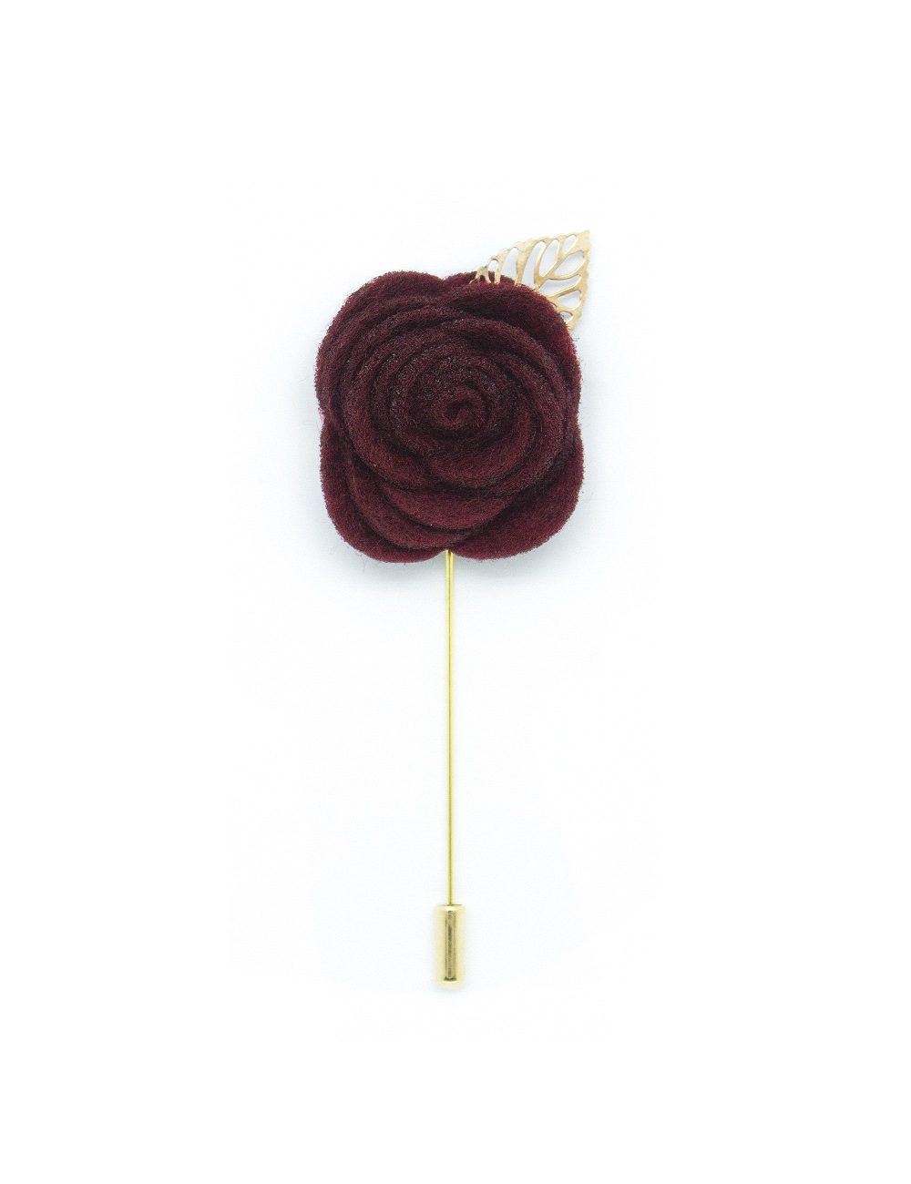 Red Rose Gold Leaf Lapel Pin LP188.8