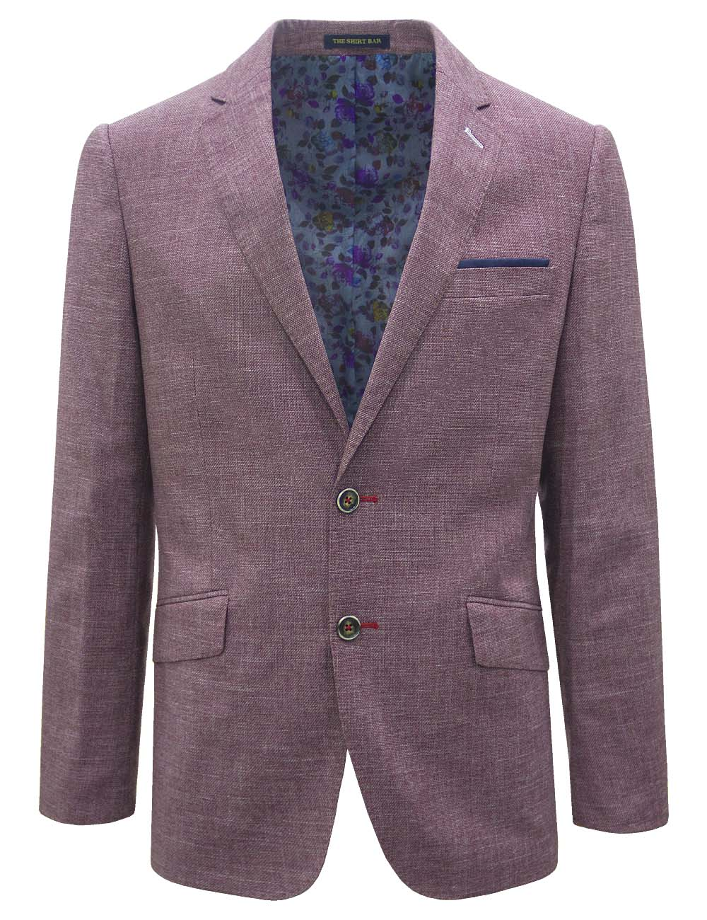 Royal Red Slim / Tailored Fit Single Breasted Blazer - S2B2.4