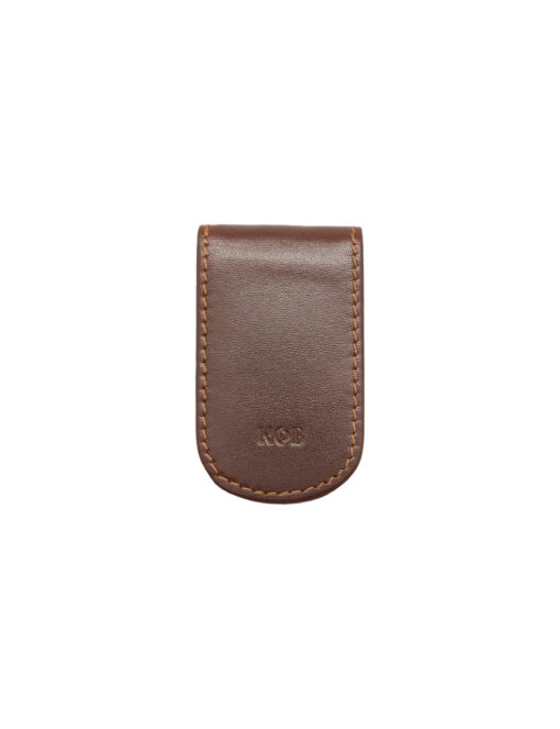 Dark Brown 100% Genuine Top Grain Leather Money Clip SLG1.NOB1