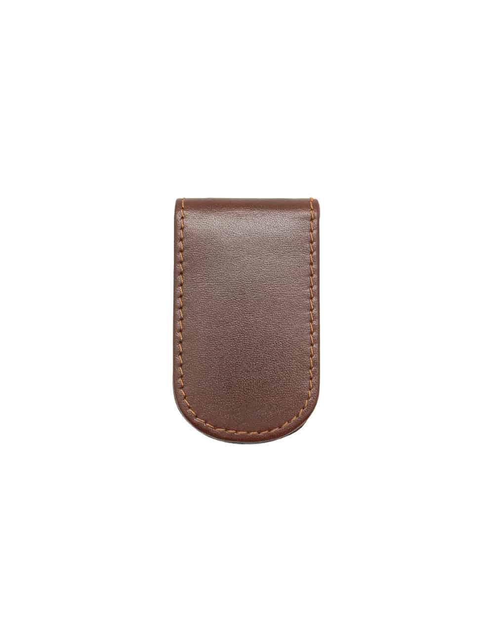 Dark Brown 100% Genuine Top Grain Leather Money Clip SLG1.NOB1