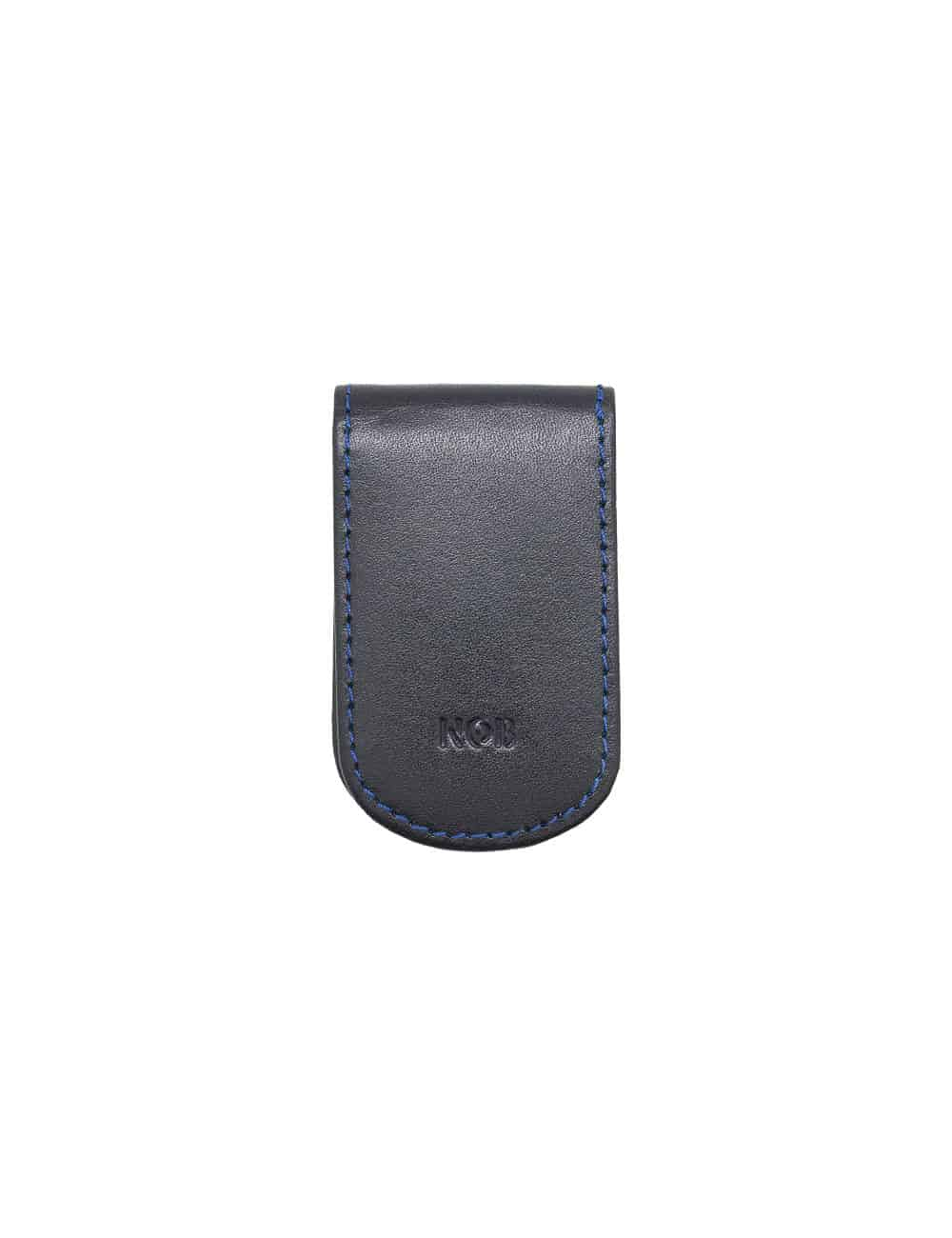 Navy 100% Genuine Top Grain Leather Money Clip SLG2.NOB1