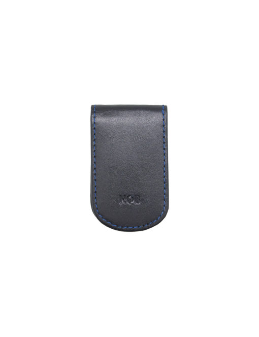 Navy 100% Genuine Top Grain Leather Money Clip SLG2.NOB1