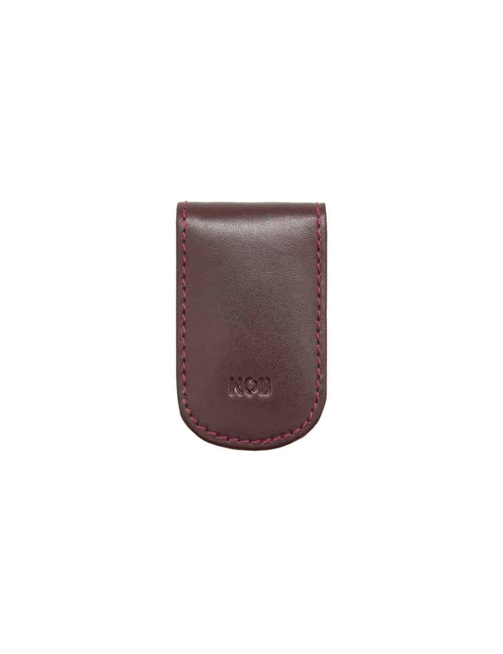 Burgundy 100% Genuine Top Grain Leather Money Clip SLG4.NOB1