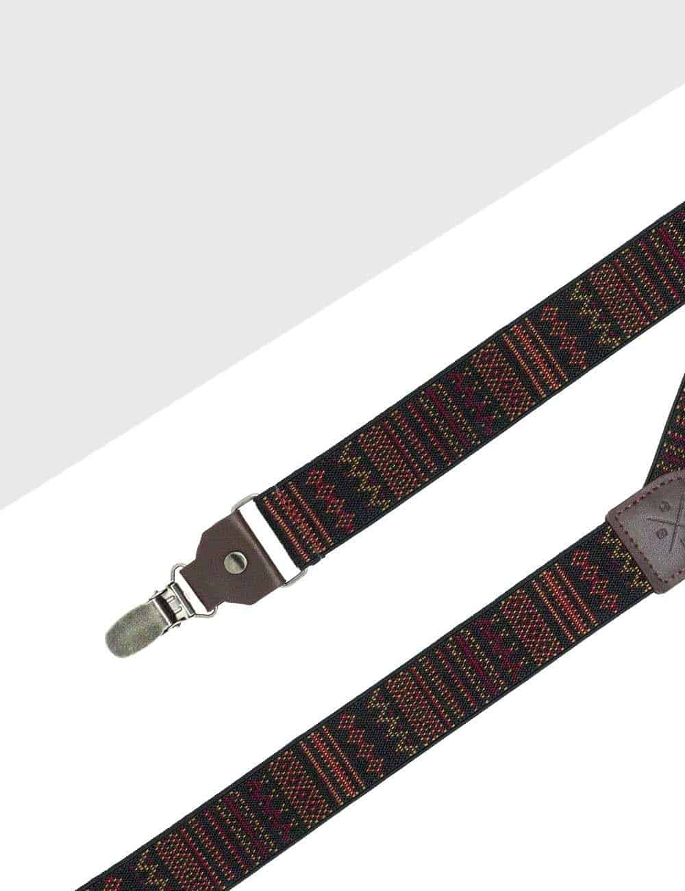 Multi Pattern Single Back Clip 3.5cm Suspender with Leather SPD25.4