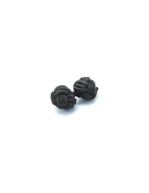 Solid Black Silk Knots - 0112-006