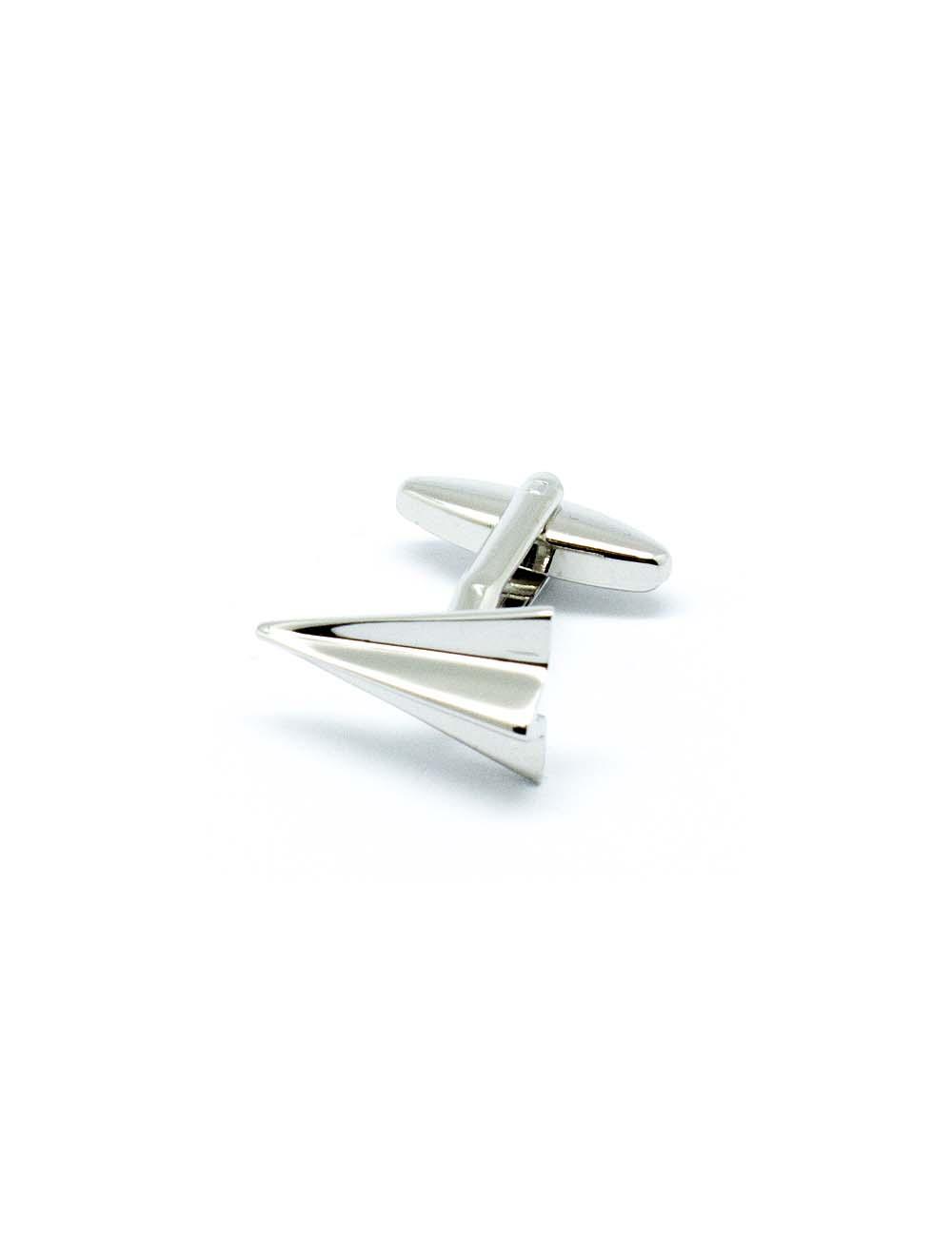 Silver Paper Aeroplane Cufflink – C271NA-010