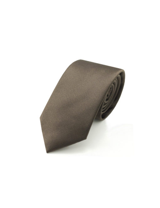 Solid Chocolate Brown Woven Necktie NT15.4