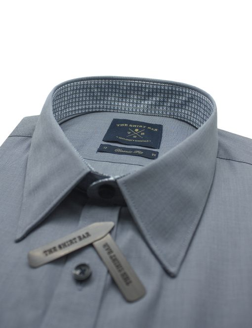 Solid Grey Fil A Fil Spill Resist Modern / Classic Fit Long Sleeve Shirt – CF33A5.11