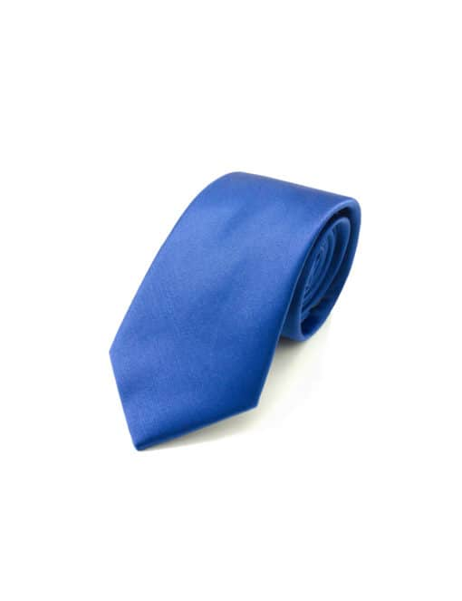 Solid Imperial Blue Woven Necktie NT13.4