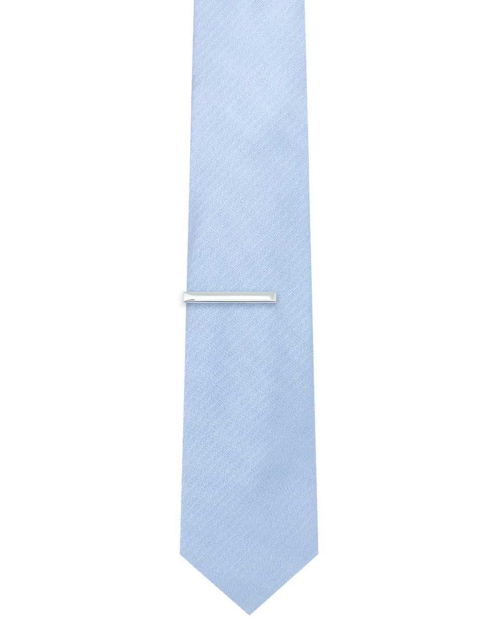"""1.55"""" Classic Plain Silver Tie Clip T101FC-035"""
