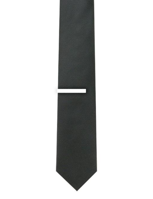 """1.50"""" Solid White Classic Tie Clip TC0101-033A"""