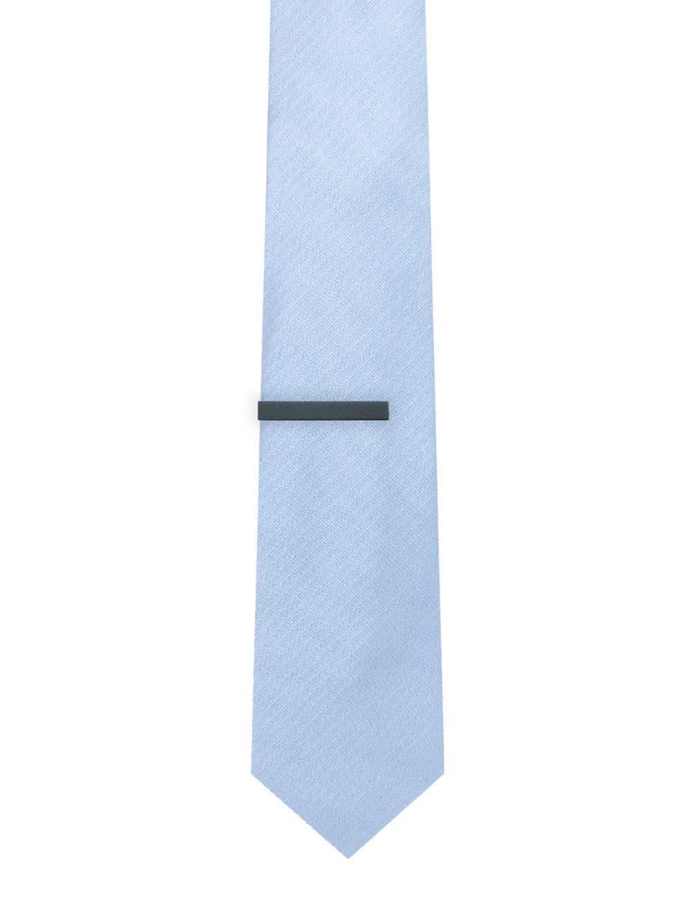 "1.50"" Solid Black Classic Tie Clip TC0101-033B"