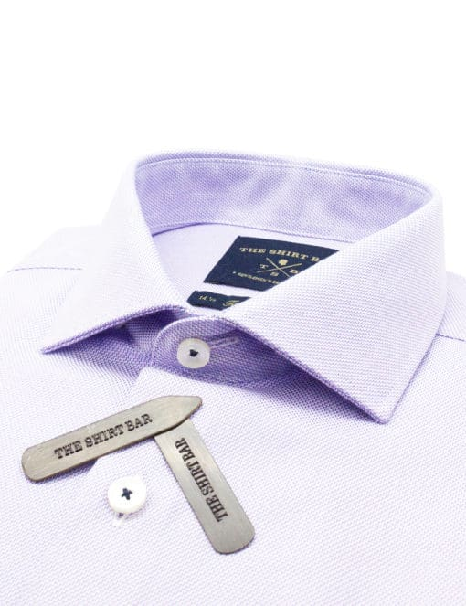 TF Purple Dobby 100% Premium Pima Cotton Double-Ply Long Sleeve Single Cuff Shirt TF1C3.16