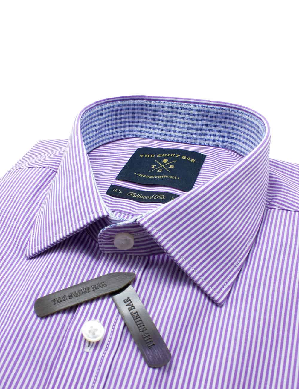 TF White and Purple Stripes Spill Resist Shirt TF2A12.10