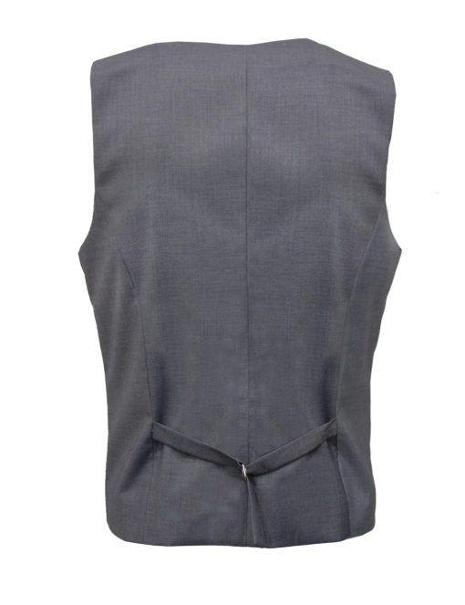Tailored Fit Grey Twill Single Breasted Vest V1V1.3
