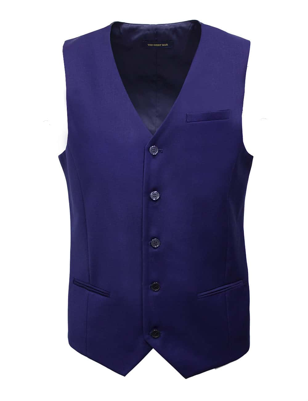 Tailored Fit Navy Twill Single Breasted Vest V1V1.4