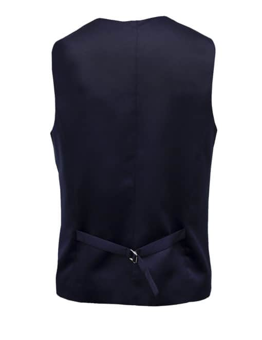 Tailored Fit Navy Twill Single Breasted Vest V1V1.4