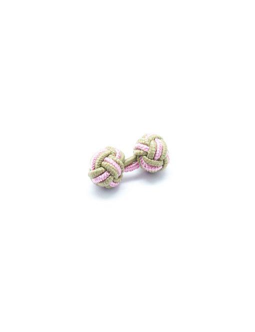 Brown & Pink Silk Knots - SK11.2