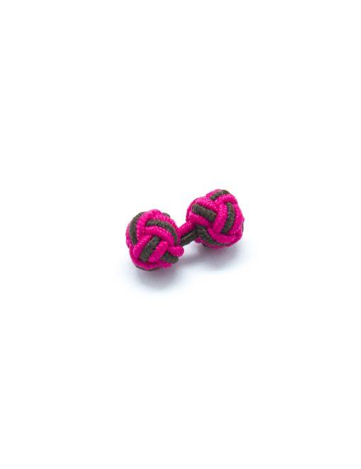 Fuchsia Pink & Navy Silk Knots - SK19.2