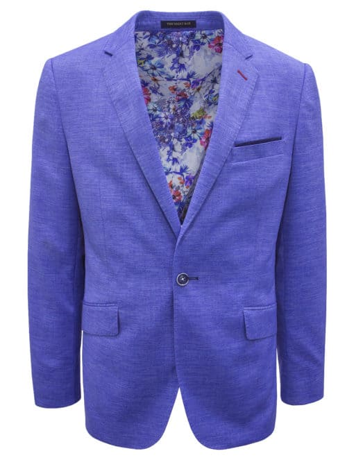 Tailored Fit Light Blue Single Breasted Blazer - S2B8.4