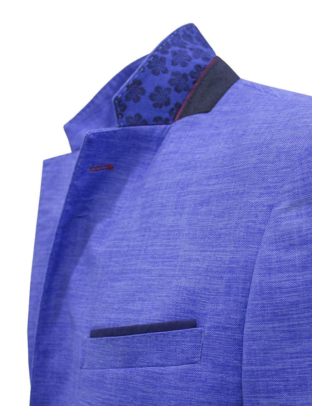Slim Fit Light Blue Blazer - S2B8.4