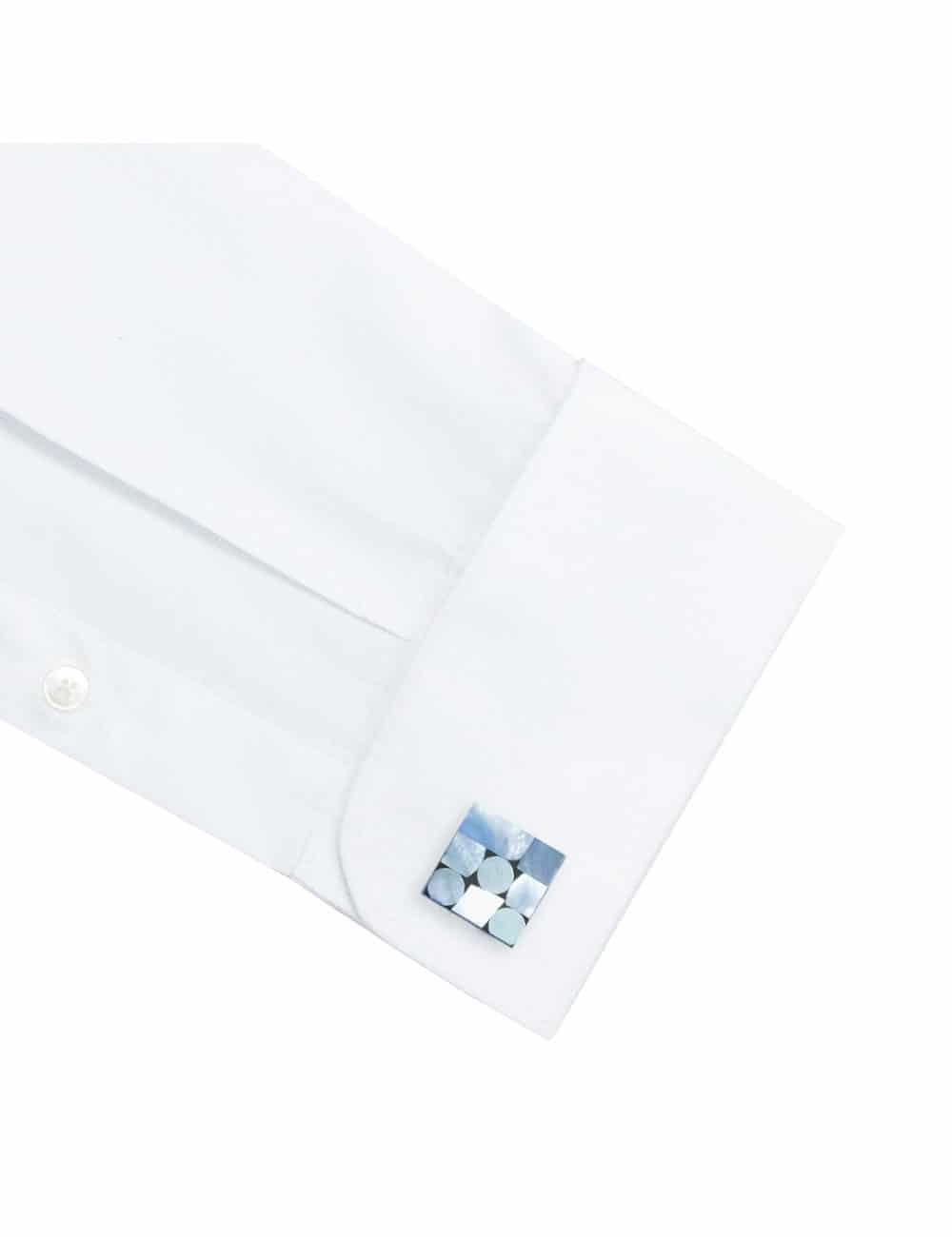 Modern Fit 100% Premium Cotton Classic Collar Solid White Pleated Long Sleeve Double Cuff Tuxedo Shirt with Pleated Front Bib and Button Studs, Long Lasting White Finishing MF2RT2.NOS