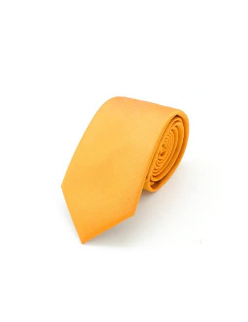 Solid Jaffa Orange Woven Necktie NT97.8