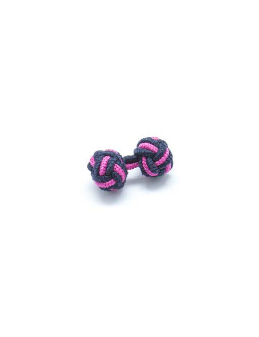 Navy & Pink Silk Knots - SK5.2
