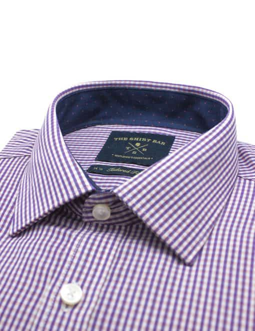 Pink and Purple Checks Eco-ol Bamboo Long Sleeve Shirt -TF2A18.17