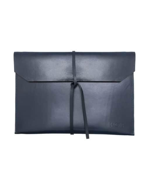Navy 100% Genuine Top Grain Leather Tablet & Notebook Folder SLG15.NOB1