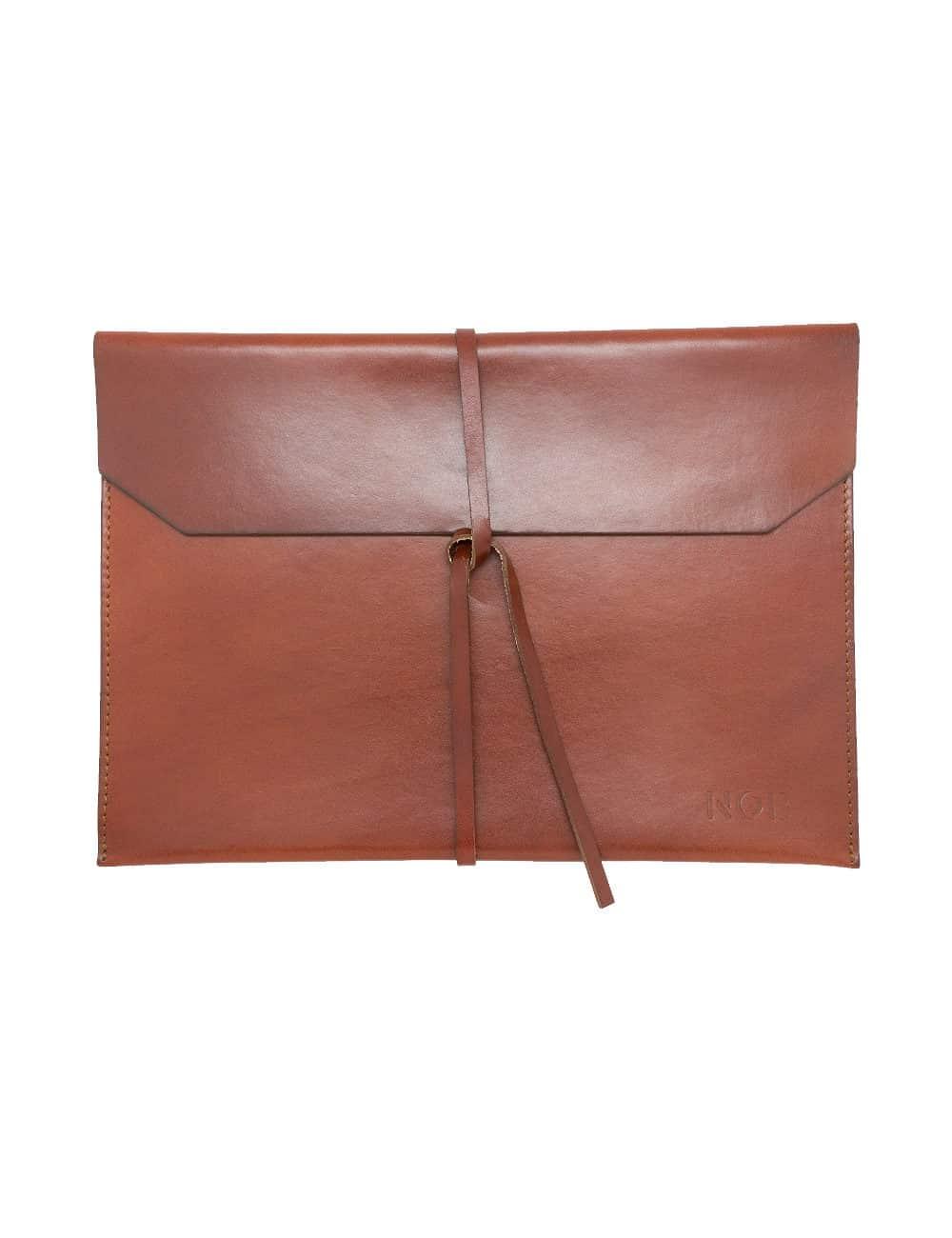 Dark Brown 100% Genuine Top Grain Leather Tablet & Notebook Folder SG16.NOB1