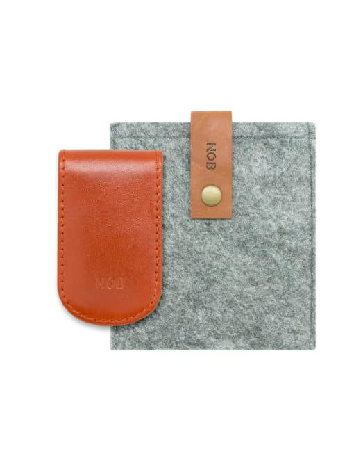 Orange 100% Genuine Top Grain Leather Money Clip SLG3.NOB1