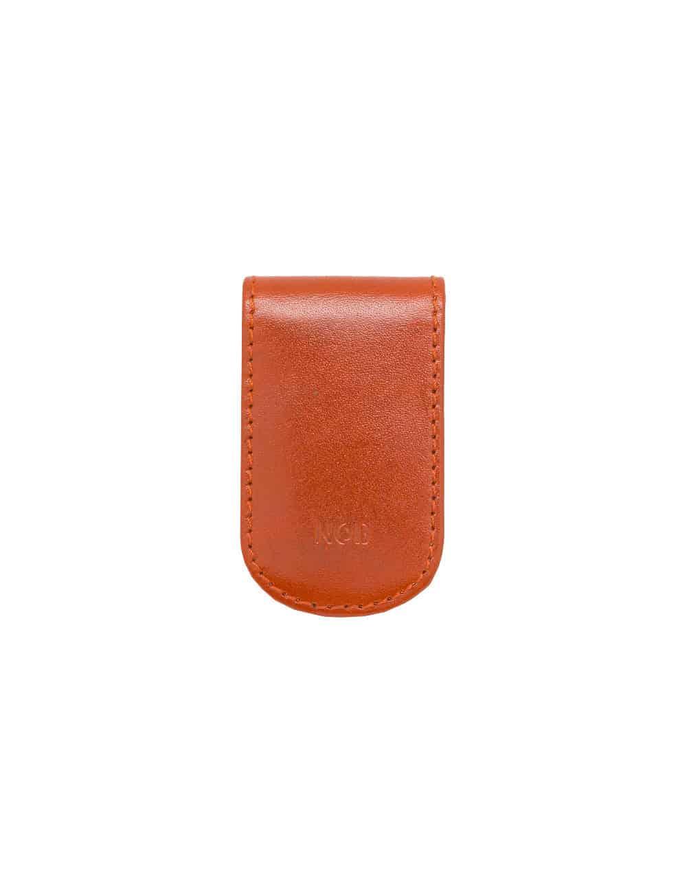Orange 100% Genuine Top Grain Leather Money Clip SLG3.NOB1