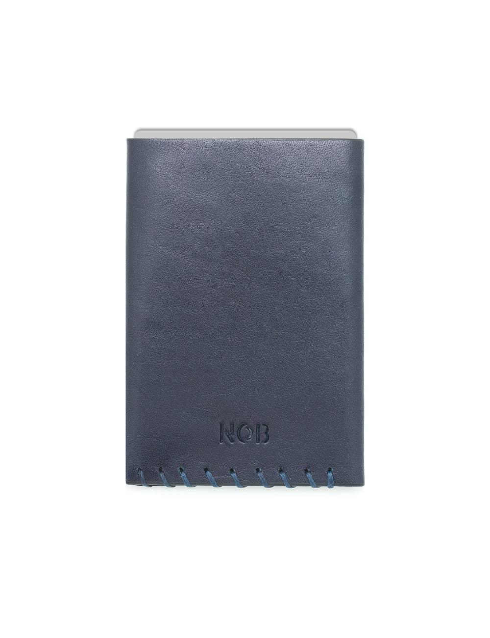 Navy 100% Genuine Top Grain Leather Card & Money Holder SLG7.NOB1