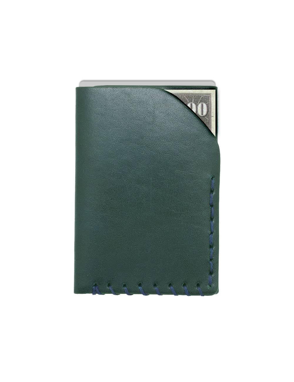 Dark Olive Green 100% Genuine Top Grain Leather Card & Money Holder SLG8.NOB1
