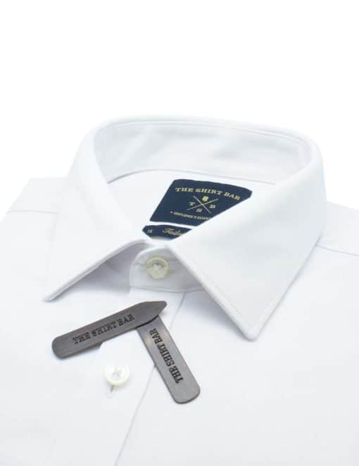 Tailored Fit Solid White Twill Eco-ol Bamboo Blend Long Sleeve Single Cuff Shirt TF2A15.17