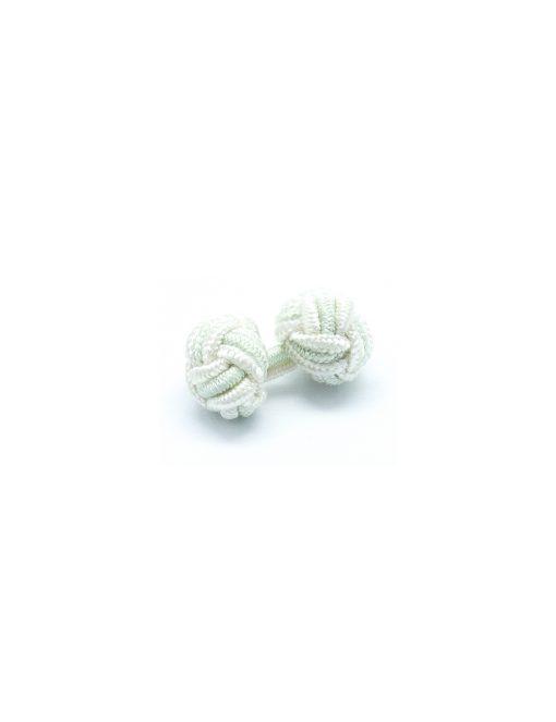 White & Grey Silk Knots - SK8.2